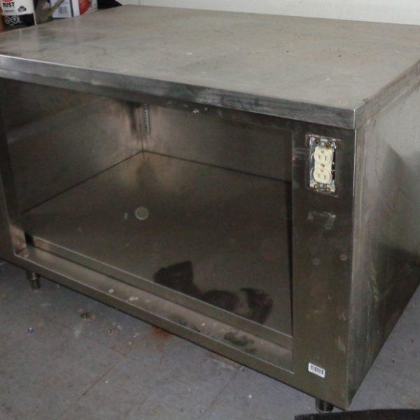table de travail ou meuble inox 30x48x34 usag restau web. Black Bedroom Furniture Sets. Home Design Ideas